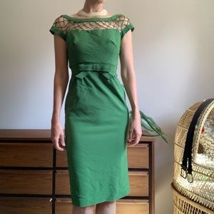 Vintage Inspired Pin-Up/Mad Men Green Dress Small